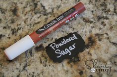 wet erase chalk pen - pantry labels; shanty chic