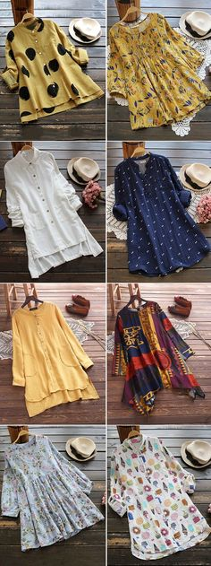 UP TO OFF! Find Spring and Summer Tops,Blouses,Shirts,T shirts on Newchic Shop Now! Kurta Designs, Blouse Designs, Mode Hippie, Casual Dresses, Fashion Dresses, Summer Dresses, Vestidos Plus Size, Vetement Fashion, Inspiration Mode