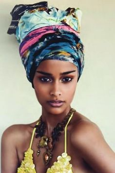 I'm so into this look right now. To think that the turban is a part of everyday fashion. Although most people are familiar with the turban being most Bad Hair Day, African Beauty, African Fashion, African Style, African Women, African Girl, African Head Wraps, My Black Is Beautiful, Dead Gorgeous