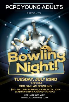 Bowling Event Party Flyer Template Is Very Modern Psd Flyer Template - Bowling event flyer template