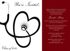 graduation party invitations dr  medical  doctor  medical, invitation samples