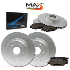 Fits: 2005 05 2006 06 Nissan Pathfinder KT037741 Max Brakes Front Premium Brake Kit OE Series Rotors + Ceramic Pads