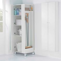 SWEEP ARMÁRIO 1P - Tok&Stok Laundry Room Design, Laundry In Bathroom, Interior Design Living Room, Living Room Decor, Cleaning Closet, Home Organization, Diy Furniture, Tall Cabinet Storage, Home Accessories