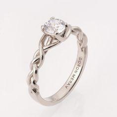 14K Weiß Gold und Diamant Verlobungsring und ein von doronmerav