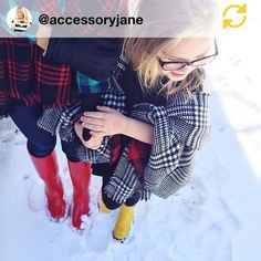 RG @accessoryjane: Snow Day:: Day 3. Got the scarves ✔️ Got the boots ✔️ #regramapp #RomaBoots #ForYouForAll #rainboots