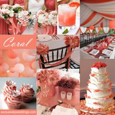 Coral Wedding Colors.. the more i see this color, the more i want it in my wedding.