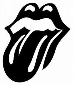 the rolling stones logo blanco y negro Silhouette Portrait, Silhouette Cameo Projects, Silhouette Design, Silhouette Files, Stencils, Stencil Art, Lip Stencil, Stencil Graffiti, Stencil Templates
