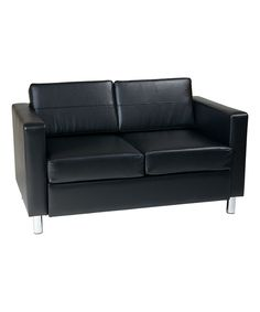 Boss Office Products BR99002 BK CaressoftPlus Loveseat With Chrome Finish  In Black | | Flash Furniture | Pinterest | Chrome Finish, Black Kitchens  And ...