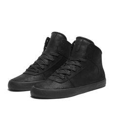 "SUPRA CUTTLER ""DEEP"" Shoe   BLACK - BLACK   Official SUPRA Footwear Site"