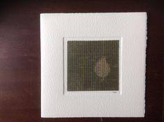 MISU card design | green leaf silk Fun Cards, Japanese Paper, Silk Screen Printing, Woodblock Print, Wool Felt, Watercolor Art, Pure Products, Frame, Prints