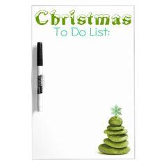 #Zen #Christmas Tree Dry Erase White Board