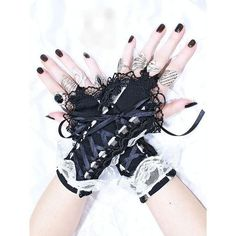 short fingerless gloves wrist warmers gothic  by FashionForWomen. https://www.etsy.com/listing/209513919/short-fingerless-gloves-wrist-warmers?ref=shop_home_active_7