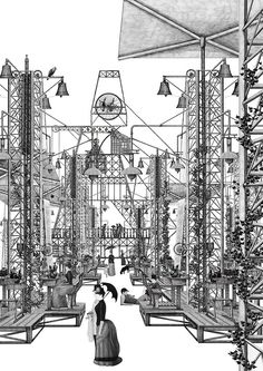 entry from paper architecture The Grimm Forest by Thomas Brown - University of Greenwich, Unit Grimm Forest by Thomas Brown - University of Greenwich, Unit 2 Bartlett School Of Architecture, Architecture Collage, Architecture Graphics, Architecture Drawings, Architecture Portfolio, Concept Architecture, Architecture Diagrams, House Architecture, University Of Greenwich