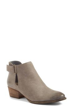 Free shipping and returns on Caslon® Tara Bootie (Women) at Nordstrom.com. A perforated finish adds a bit of modern influence to a stacked-heel bootie with a burnished, well-worn toe.