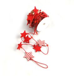 Wilko felt christmas runner snowflake red table runners party felt star garland solutioingenieria Choice Image
