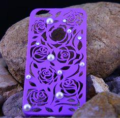 Iphone 5 Case, Purple Flower Pearl Iphone Case 5