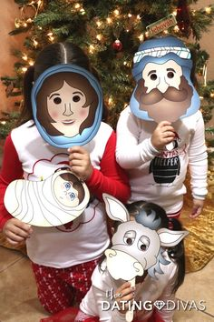 FREE PRINTABLES - Kids can act out the Nativity Story after making these darling masks!