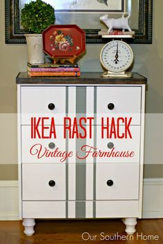 Our Southern Home | Vintage Farmhouse Ikea Rast Hack | http://www.oursouthernhomesc.com