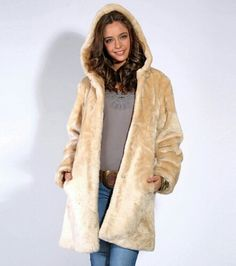 Abrigo camel para mujer, con capucha Parka, Fur Coat, Jackets, Products, Fashion, Fur Coats, Female Fashion, Women's, Tall Clothing