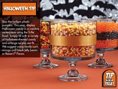 This year, display Halloween candy in a creative centerpiece using the Trifle Bowl. | Pampered Chef® with Jessica Schecter, Independent Consultant