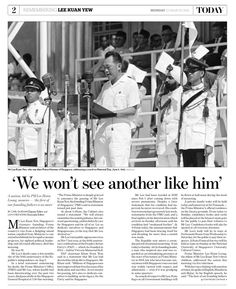 Remembering Mr. Lee Kuan Yew