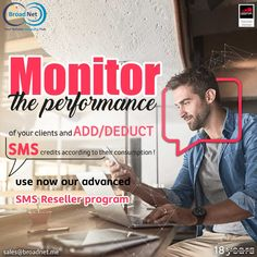 Monitor the performance of your clients and add/deduct SMS credits according to their consumption! Use now our advanced SMS Reseller sales@broadnet.me www.broadnet.me #smsmarketing #directconnection #reseller #broadnettechnologies #bulksms #bulksmsreseller #smsgateway Gate Way, Android Application Development, Monitor, Web Design, Marketing, Design Web, Website Designs, Site Design