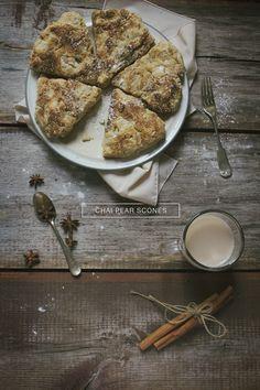Chai spiced pear scones | Emily Leclerc