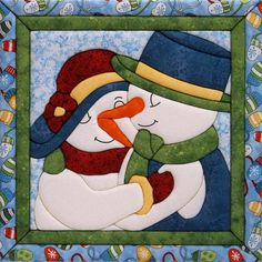 Quilt Magic-No Sew Wall Hanging Kit. Make a unique quilted wall hanging to decorate any room in the house! These kits are fun and easy to make because they require no special tools, sewing or gluing! Design: Snow Couple. Size: 12x12 inches.