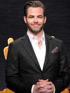Star Tracks: Thursday, January 15, 2015 | FINE PINE | Now this is something we don't mind waking up for! Chris Pine is all dressed up Thursday morning to help announce the 87th annual Oscar nominees in Los Angeles.