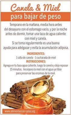Remedio natural con miel y canela para perder de peso