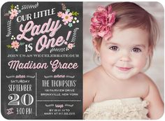 First Birthday Invitations 1st Cards