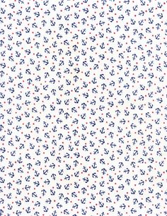 Coastal and Beach Mini Nautical Anchors White, Timeless Treasures Fabric by the… Pattern Drawing, Pattern Art, Pattern Design, Motifs Textiles, Textile Patterns, Paper Background, Background Patterns, Anchor Background, Timeless Treasures Fabric
