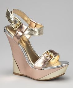 Dollhouse & Bamboo  -  Bamboo Rose Gold Julianne Wedge - Zulily