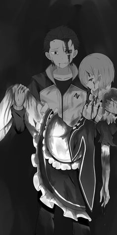 Re:Zero kara Hajimeru Isekai Seikatsu Sad Anime, Anime Guys, Anime Art, Subaru, Re Zero Wallpaper, Chica Anime Manga, Attack On Titan Anime, Samurai Art, Anime Love Couple
