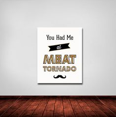 Typography Print Quote Print  Ron Swanson Moustache by paperchat, $26.00 (Colleen)