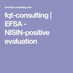 fqt-consulting | EFSA - NISIN-positive evaluation