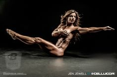 "Another gorgeous shot of my fitness icon Jen Jewell in Bodybuilding.com ""Bodies of Work"" editorial."