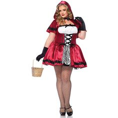 Plus Size Sexy Gothic Red Riding Hood Costume for Women ($48) ❤ liked on Polyvore featuring costumes, halloween costumes, multicolor, plus size, womens little red riding hood costume, sexy womens halloween costumes, sexy women costumes, red riding hood costume and plus size womens costumes