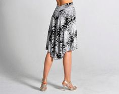 NEW* sizes XS/S/M/L ! - PAOLA white floral Tango skirt - with slit