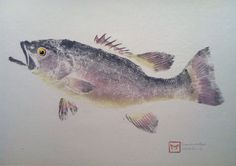 Original Smallmouth Bass Gyotaku on Cotton by TheMightyBluegill on Etsy https://www.etsy.com/listing/279629962/original-smallmouth-bass-gyotaku-on