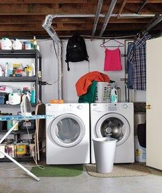 A family's dreary laundry room receives a much needed makeover, thanks to a few high-efficiency strategies.