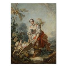 The Joys of Motherhood by Jean-Honore Fragonard, oil on canvas (no date)