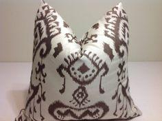 Pillows Decorative throw pillow cover Brown Pillow   by DEKOWE, $20.00