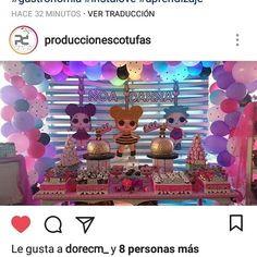 Con esta bella mesa celebraron su cumple Noa y Danna una bellísima decoración y montaje de nuestros amigos de @produccionescotufas junto a nuestras tortas y dulces de #lolsurprise