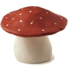 Svampelampe - Stor r�d svampe lampe - Heico lampe til b�rnev�relse