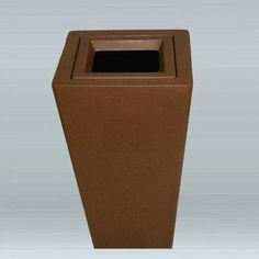 """Allied Molded Products Springdale 12-Gal Hide-A-Butt Industrial Recycling Bin Size: 34"""" H x 20"""" W x 20"""" D, Color: Plum"""