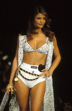 Helens Christensen for Chanel RTW Spring -Summer 1993 In Paris, FRANCE.