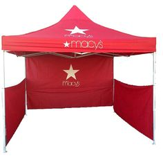 Canopy Tent 10' x 10' is a lightweight and portable recreational shelter, allowing you to take it virtually anywhere. its resistant top offers protection from the sun to shade anyone underneath. The straight-leg design of this lightweight shelter maximizes the shade area and allows you to set it up in seconds.
