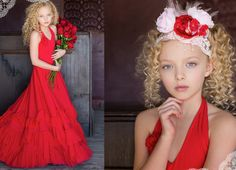 Red Dance To The Rhythm Frock (sash included)