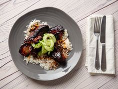 Tim Lovejoy and Simon Rimmer host Sunday Brunch, packed with guests, cookery and chat Simon Rimmer, Pork Recipes, Cooking Recipes, Sticky Pork, Chilli Paste, Latest Recipe, Rice Vinegar, Sunday Brunch, Pork Belly